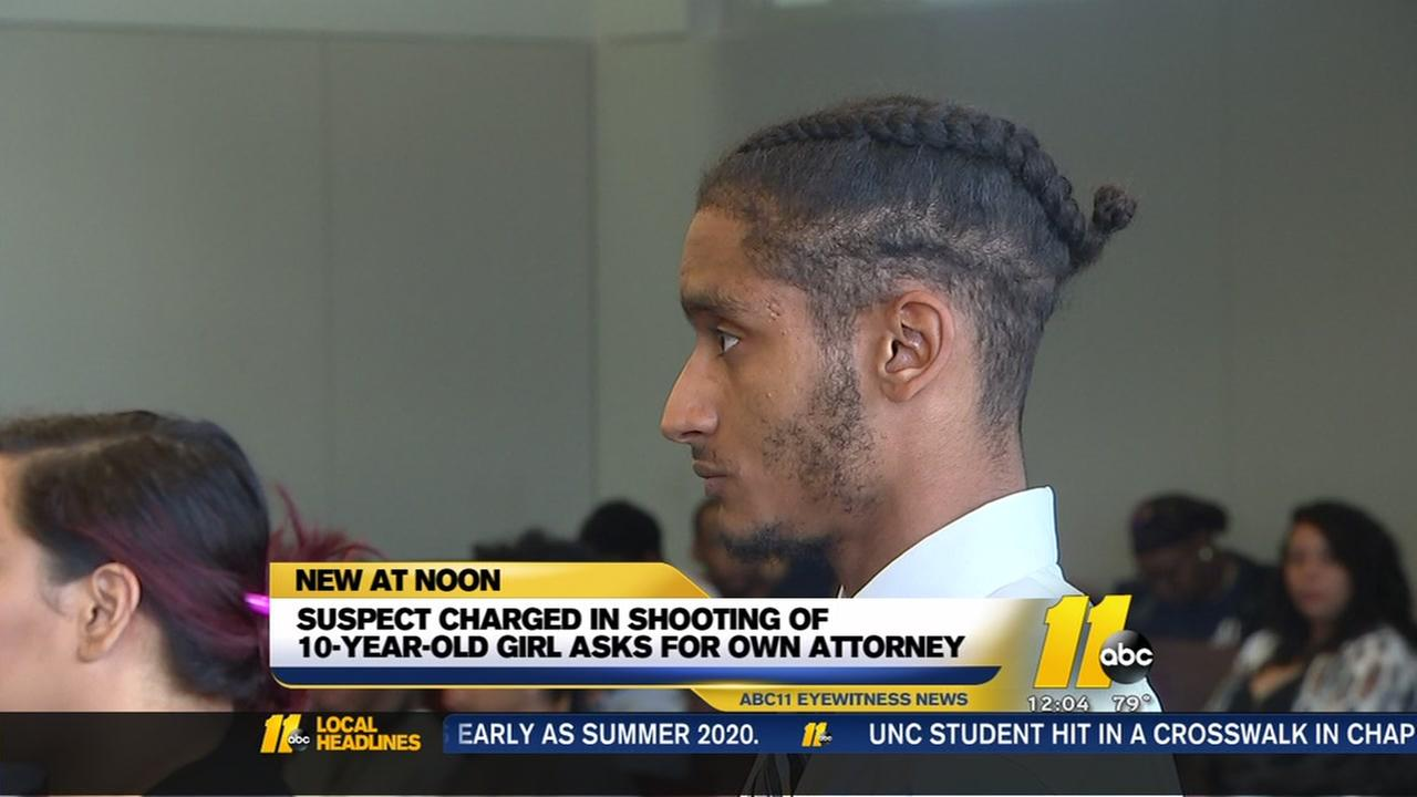 Suspect charged in shooting of 10-year-old wants own attorney