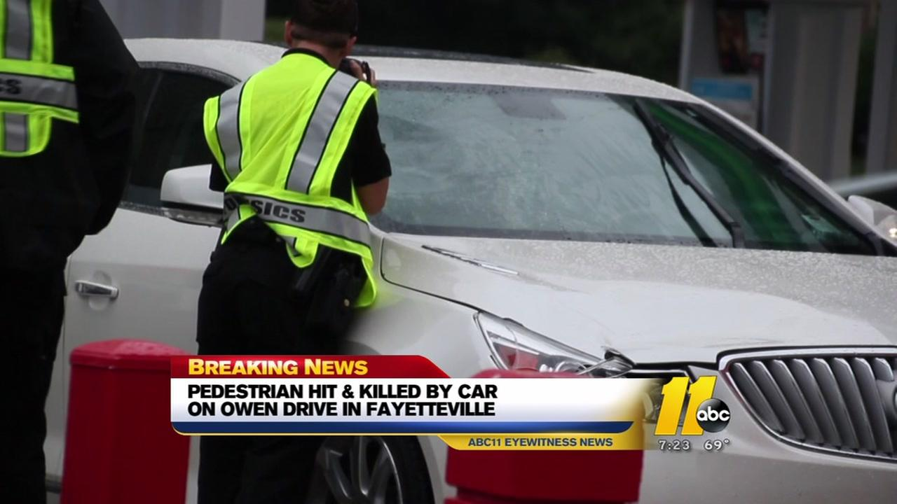 Pedestrian hit and killed by car in Fayetteville