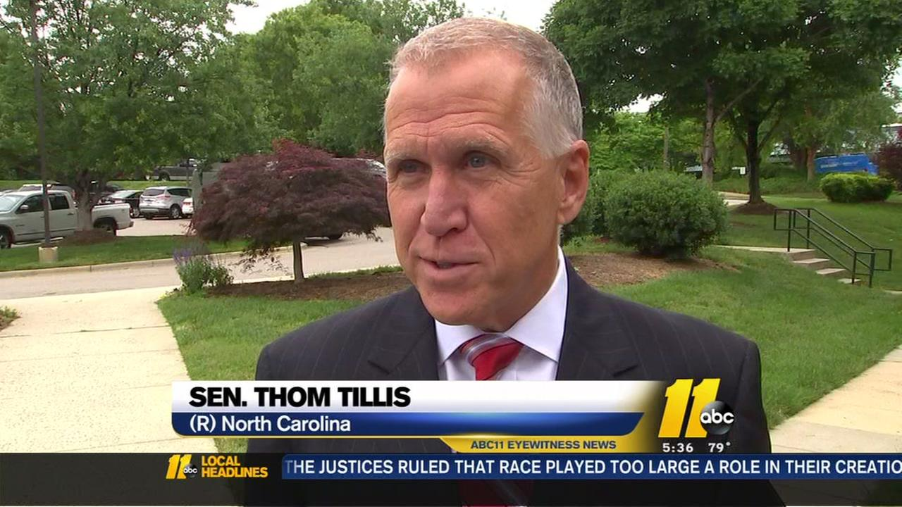 Sen. Tillis discusses threats against congress members
