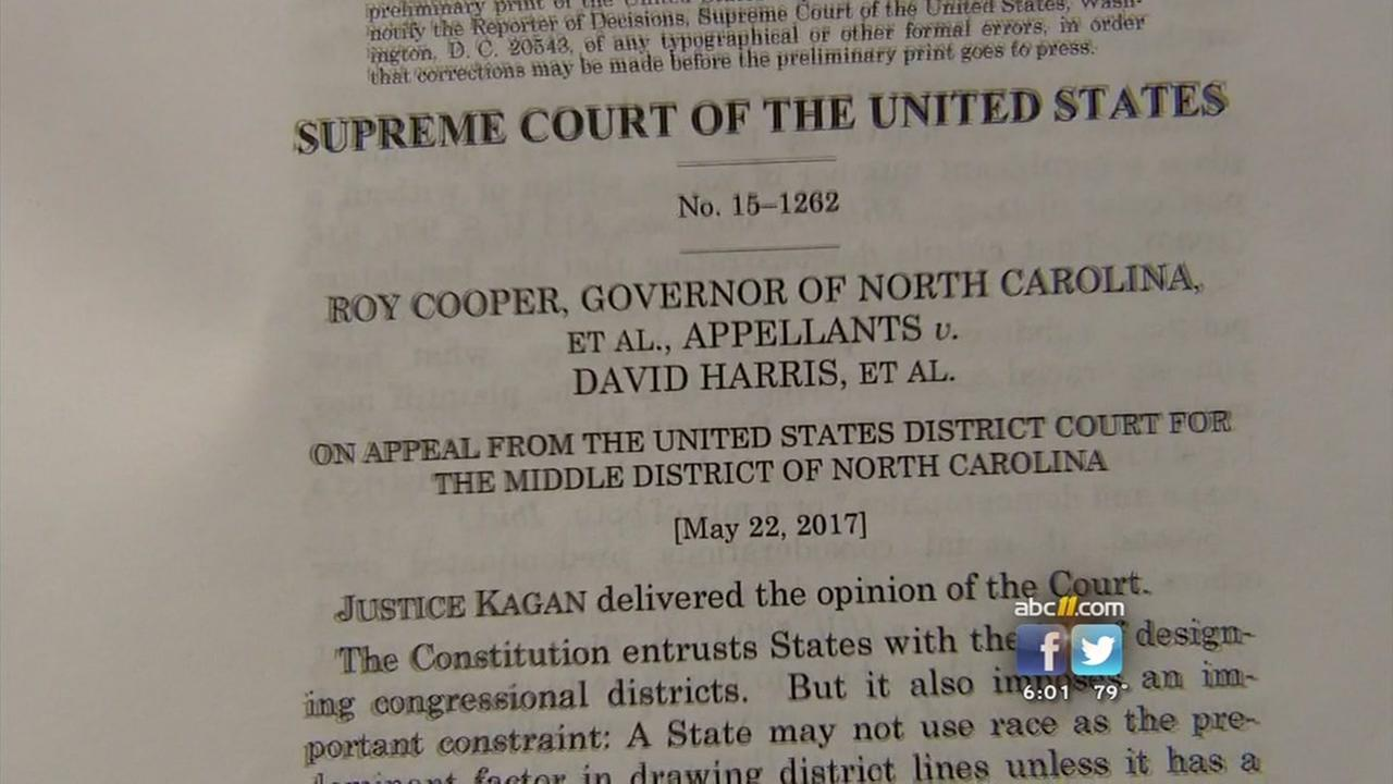 NC congressional districts struck down