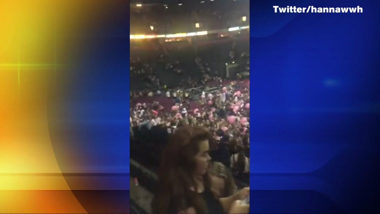 Chaos after incident at Ariana Grande concert