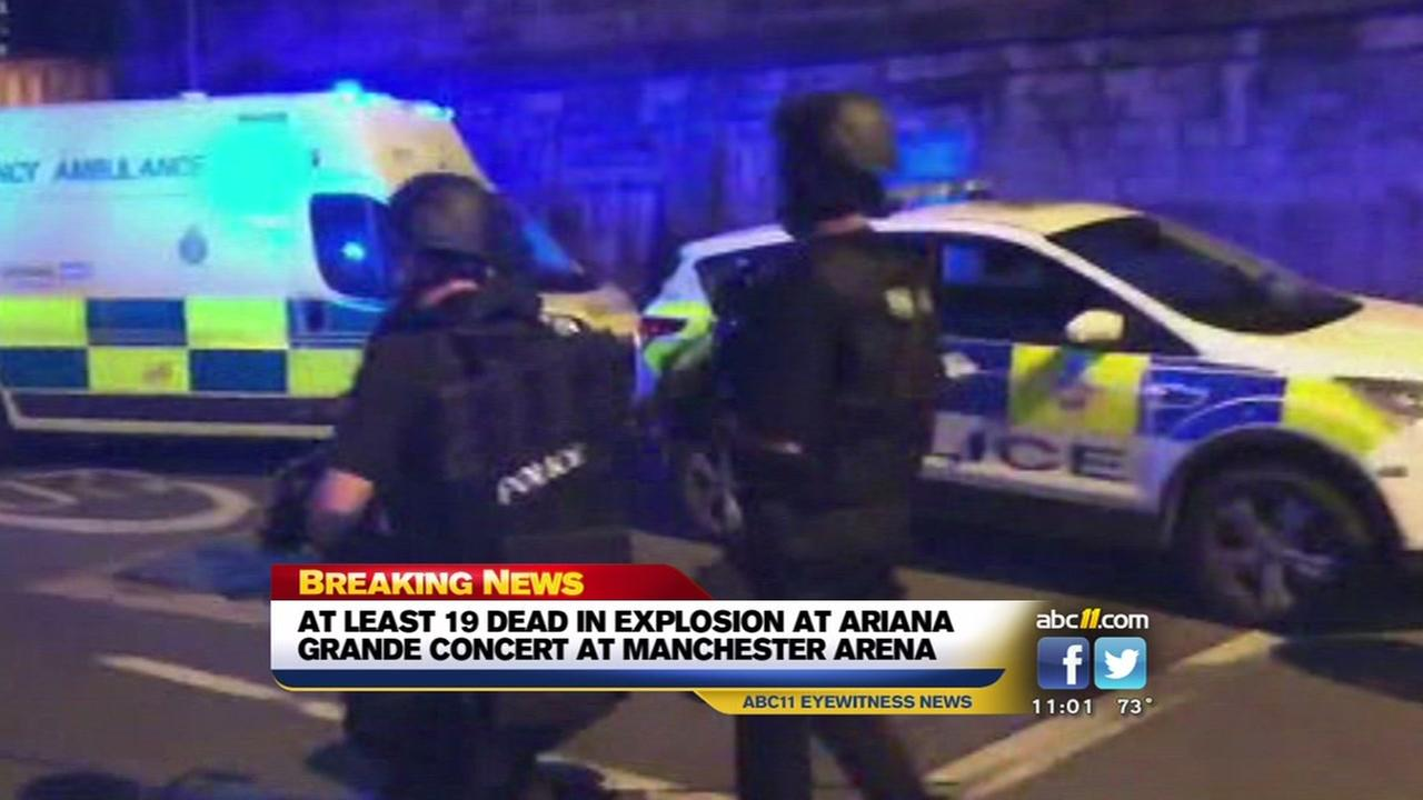 19 dead in blast at Manchester Arena concert