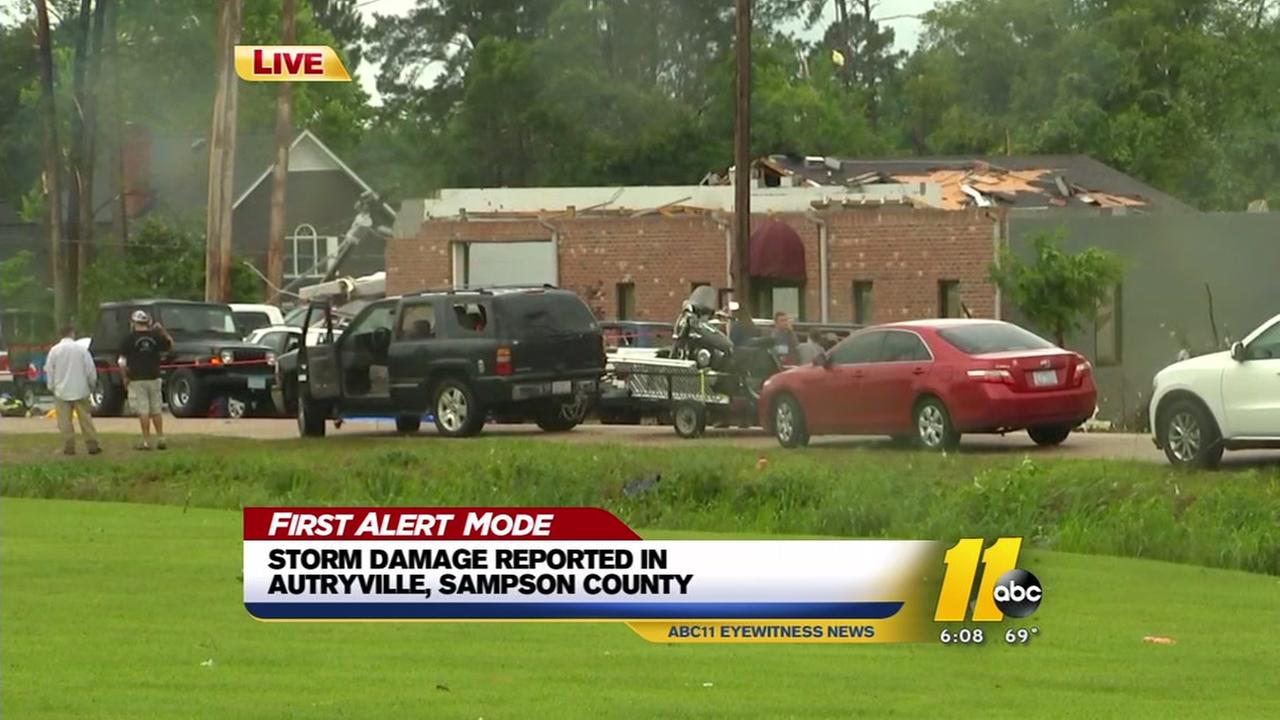 Tornado damage reported in Sampson County