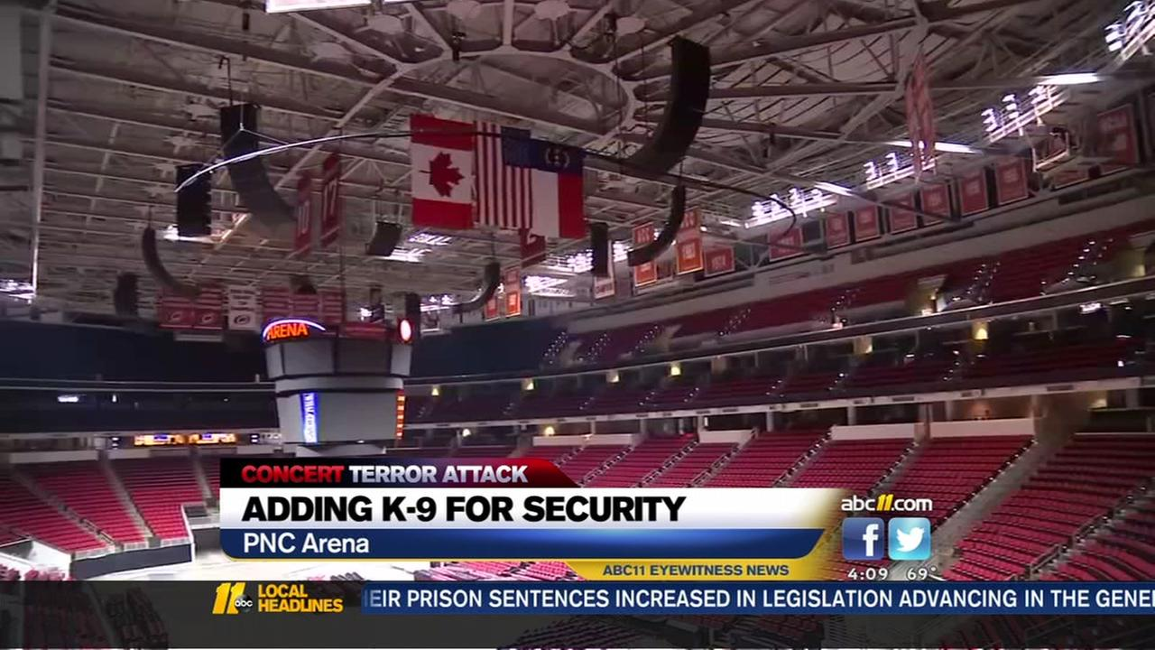 PNC Arena speeds up plans to add bomb-sniffing dogs to events