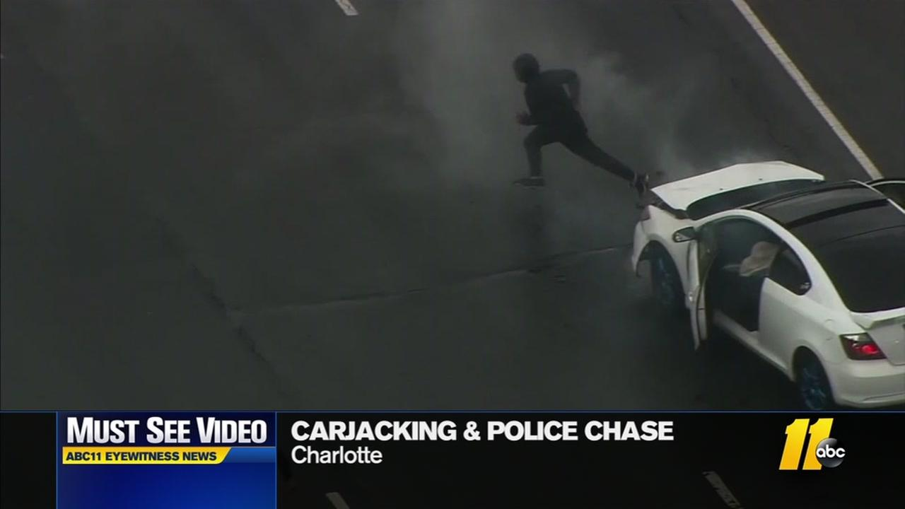 Carjacking leads to Charlotte chase