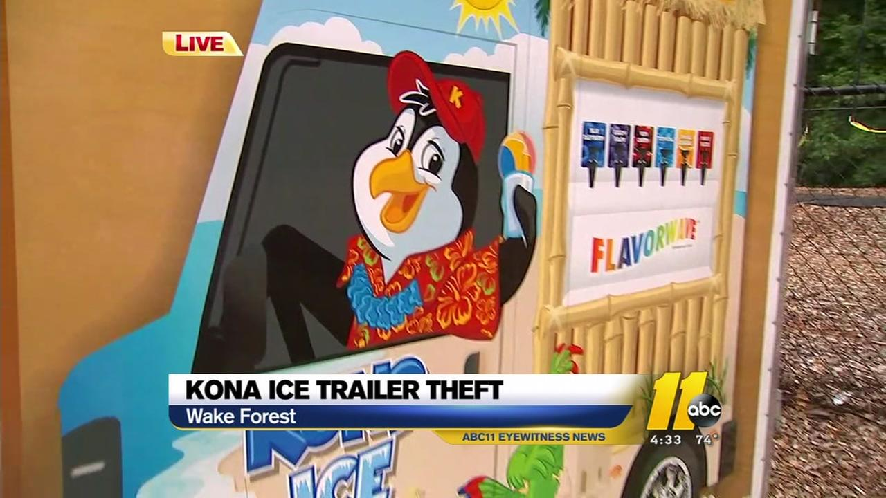 Kona Ice trailer stolen