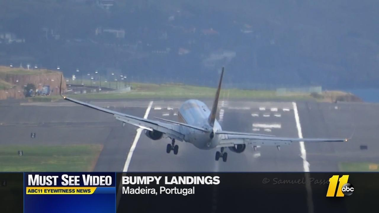 Must-see video: Nerve wracking plane landing