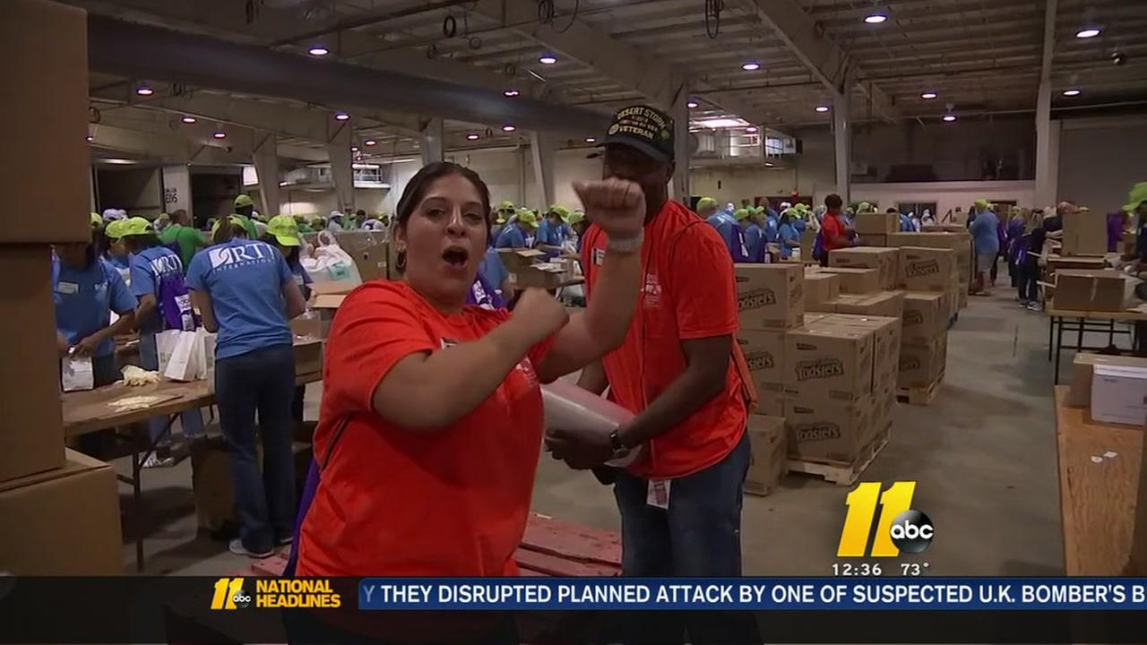 Volunteers take part in food bank Sort-o-Rama