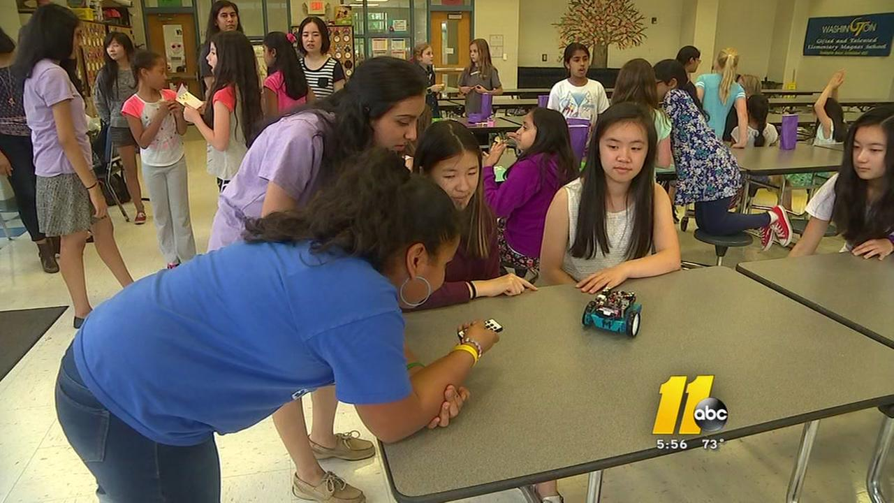 Wake County teens inspiring young girls to pursue STEM fields