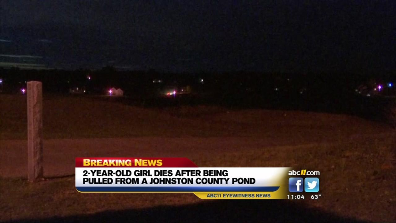 Girl dies after being pulled from Clayton pond