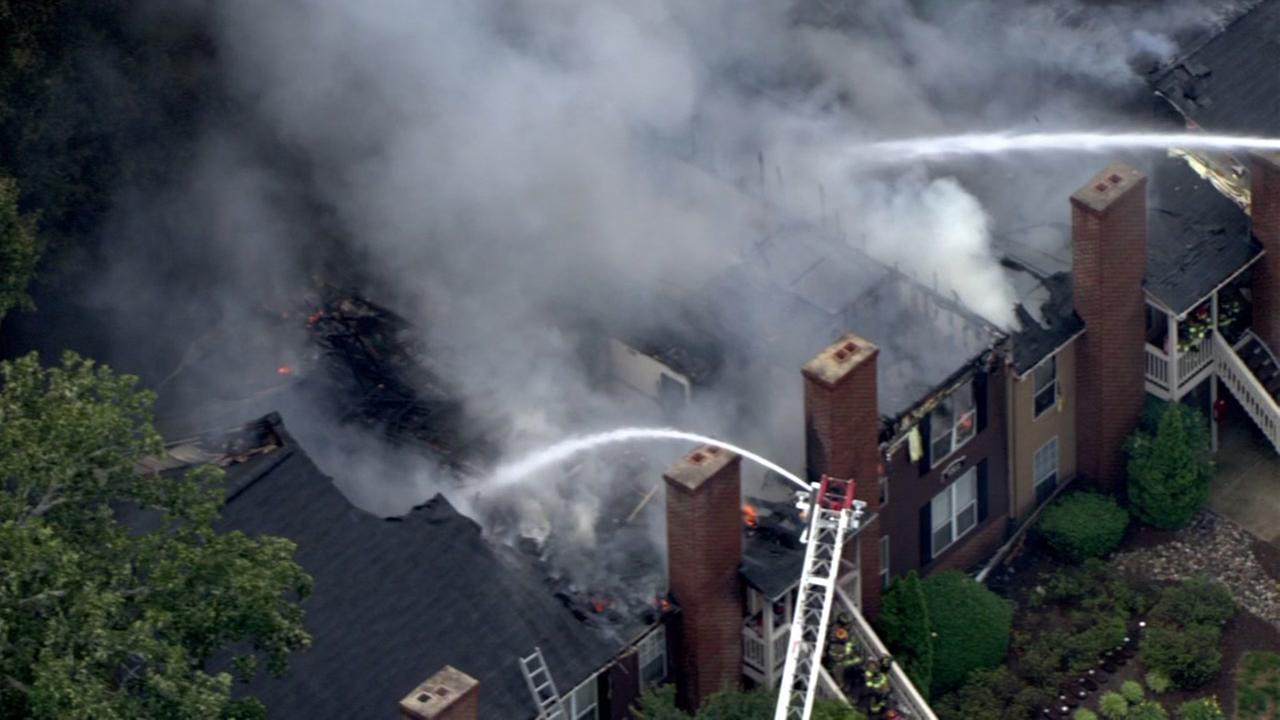 Raleigh townhomes heavily damaged by fire