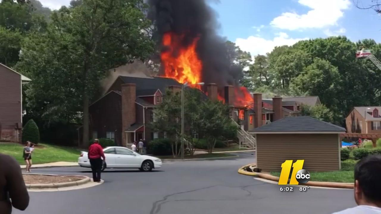 Townhouse fire displaces 18 people