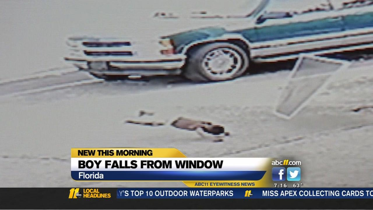 Boy falls from window in Florida