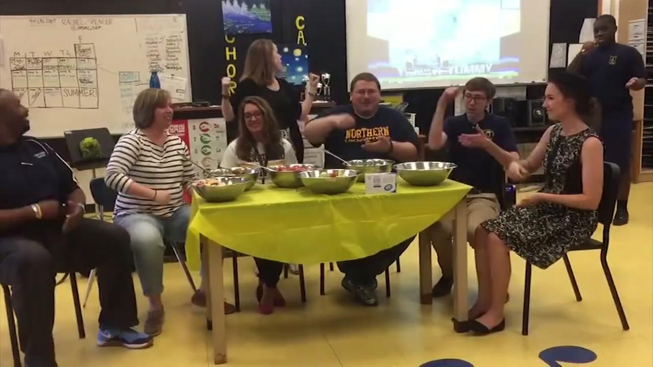 Durham teacher helps special needs student perform Wiggles song, Fruit Salad