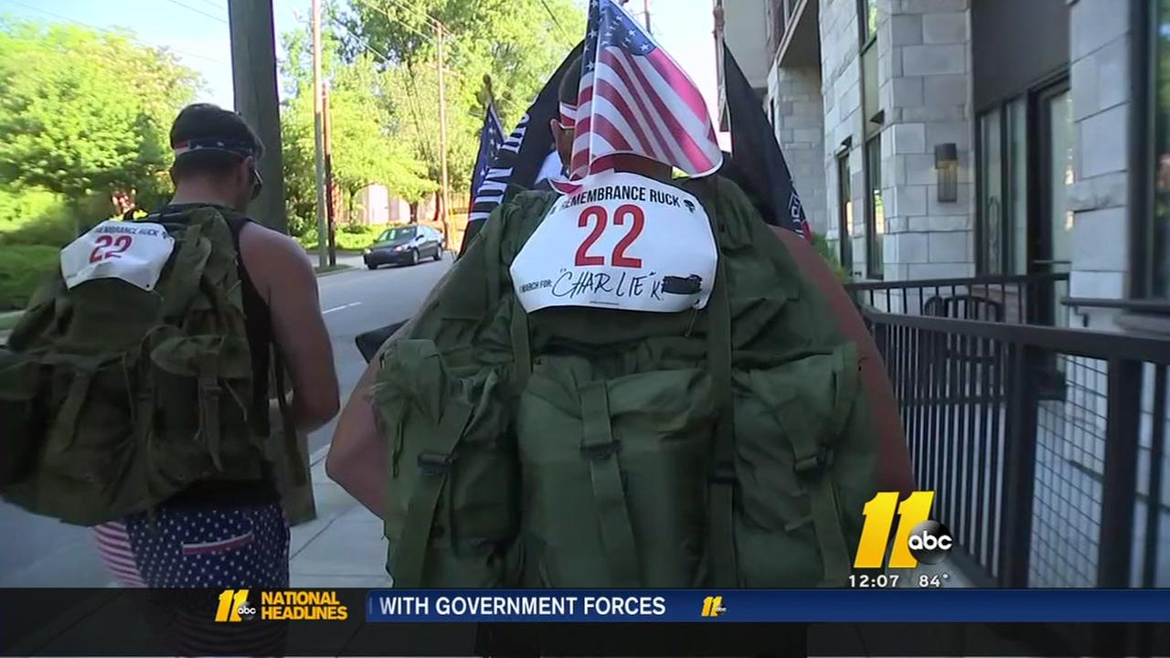 Ruck March highlights veteran suicides