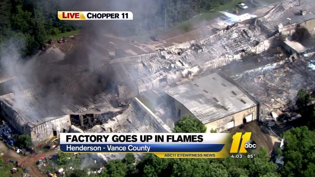 Vance County factory goes up in flames