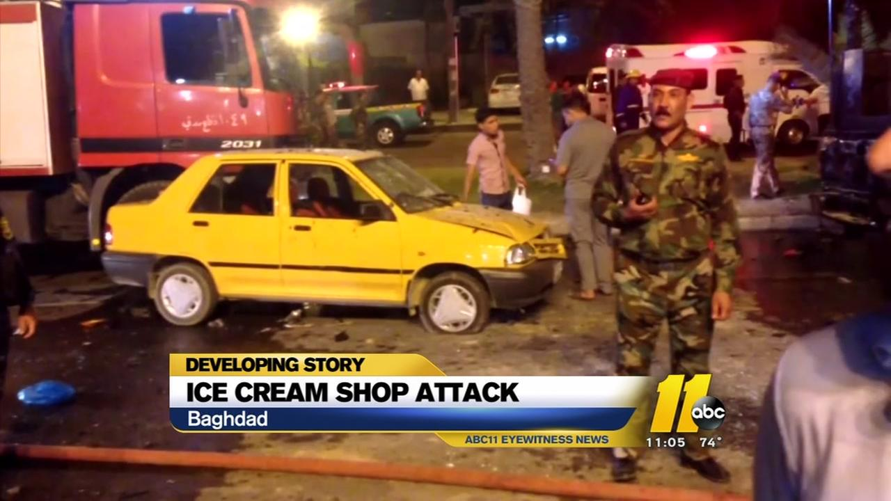 Deadly attack at Baghdad ice-cream shop