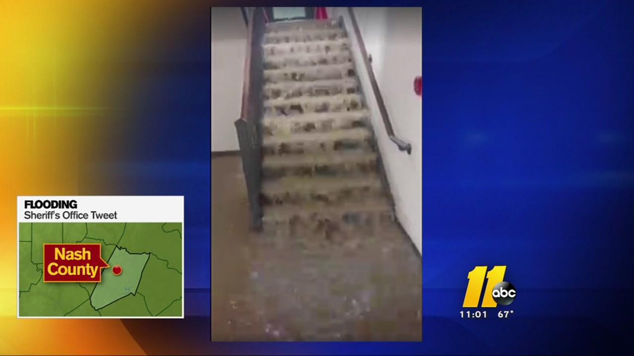 Nash County Sheriffs Office gets a flooded floor