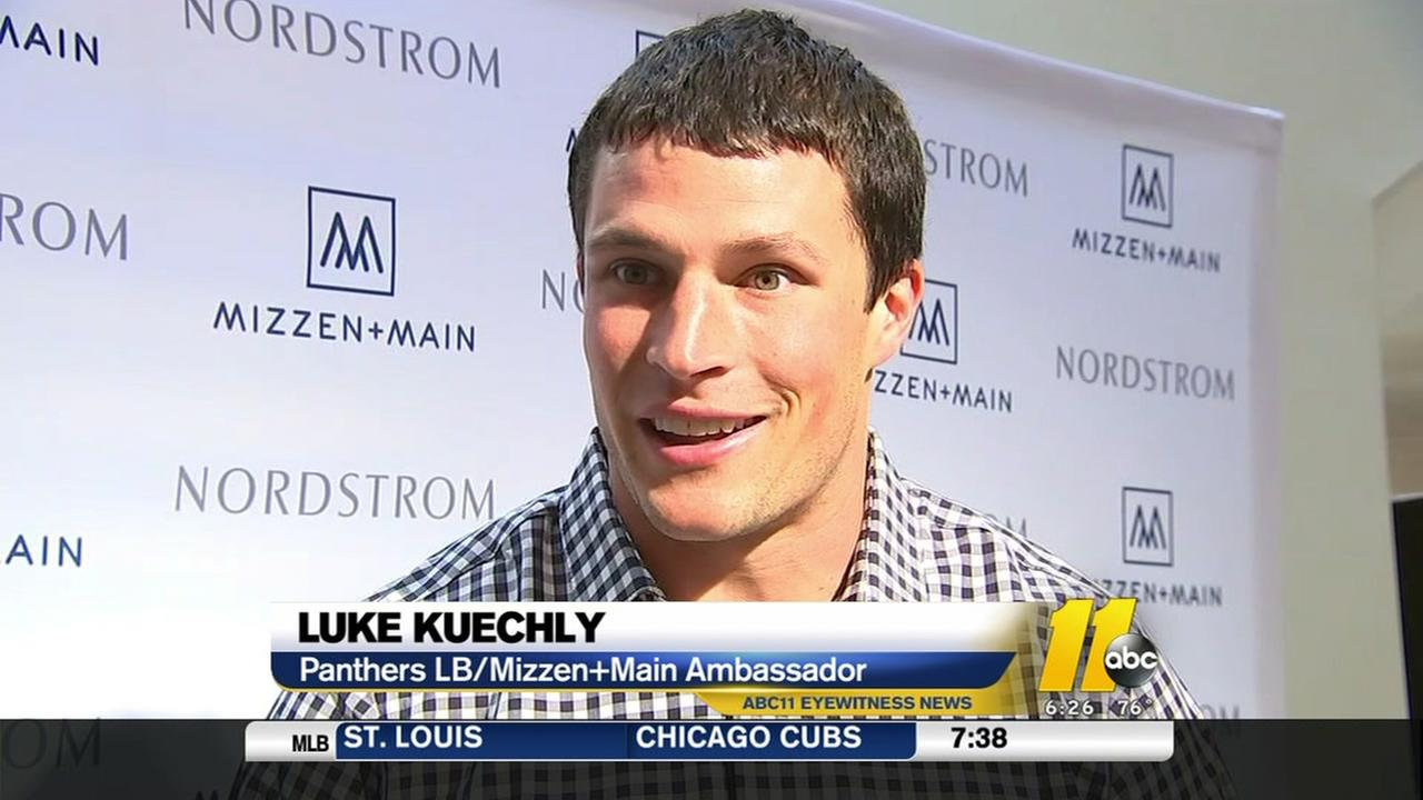 Panthers Luke Kuechlys fashionable stop in Durham