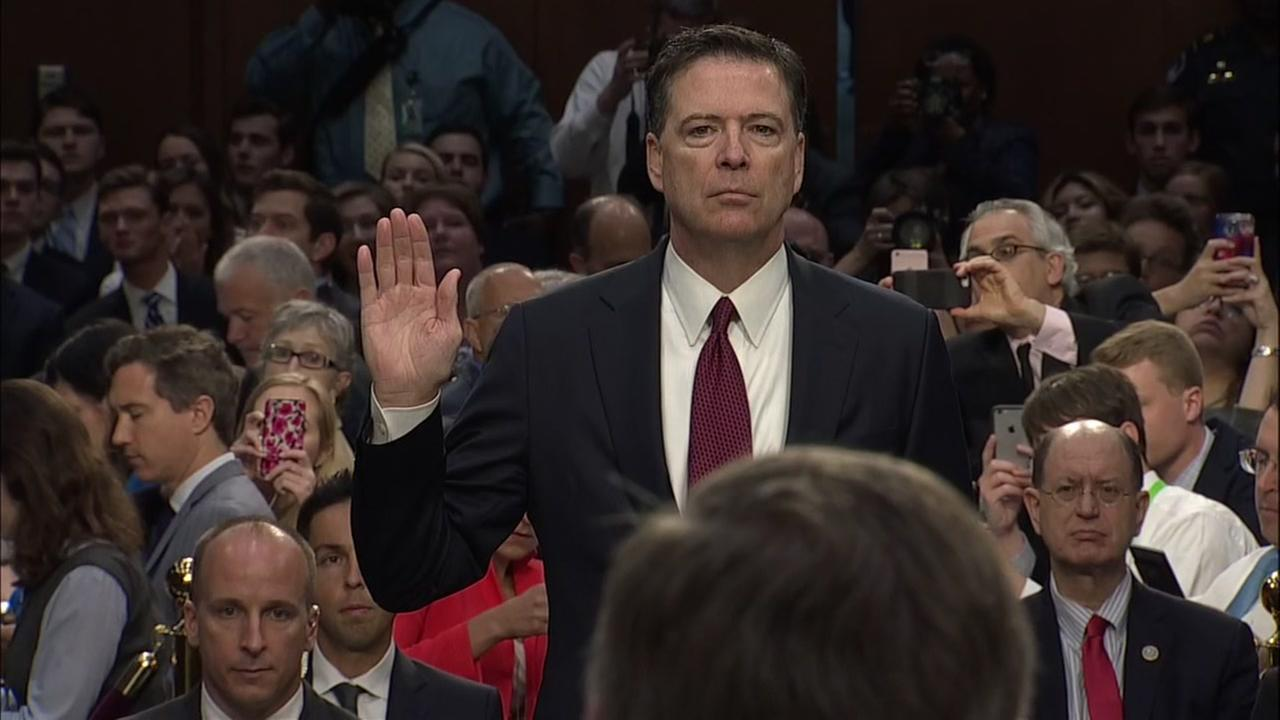 Former FBI Director James Comey testifies to Congress