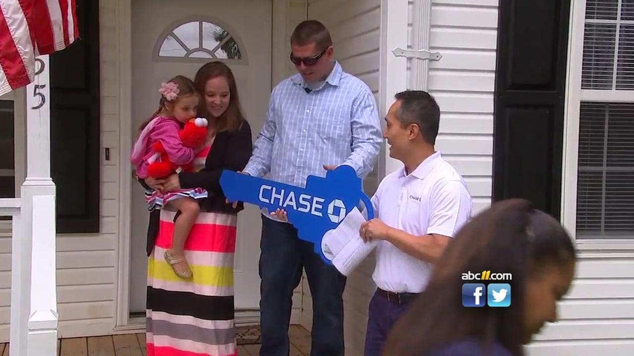 Local veteran receives keys to new home
