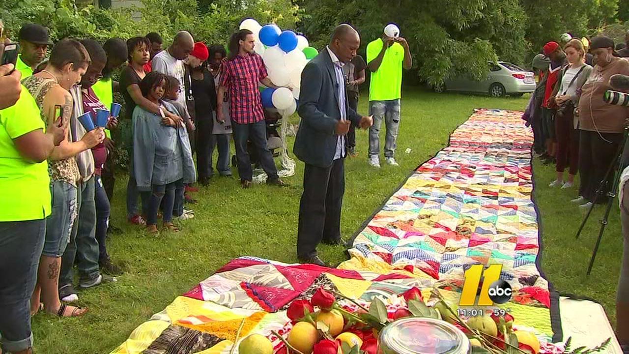 Vigil for Kamari held at spot of fatal shooting