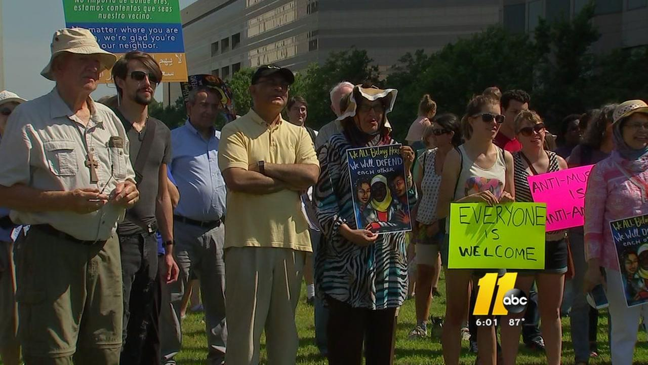 Anti-Islamic rally held in downtown Raleigh