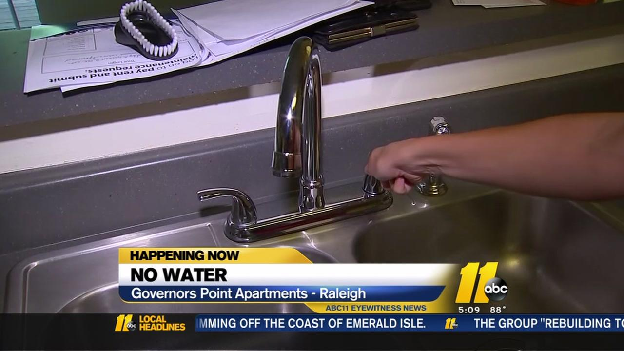 Some Raleigh residents left without water