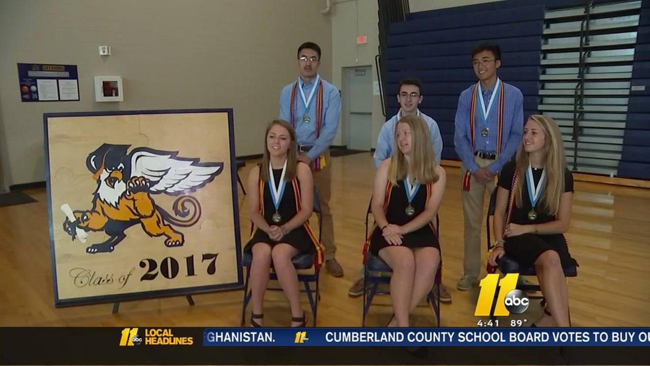 6 are valedictorians in Rocky Mount