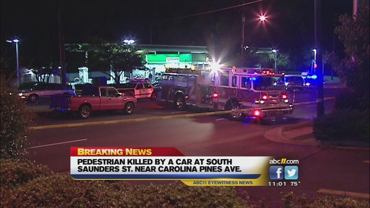 Pedestrian struck, killed on South Saunders Street