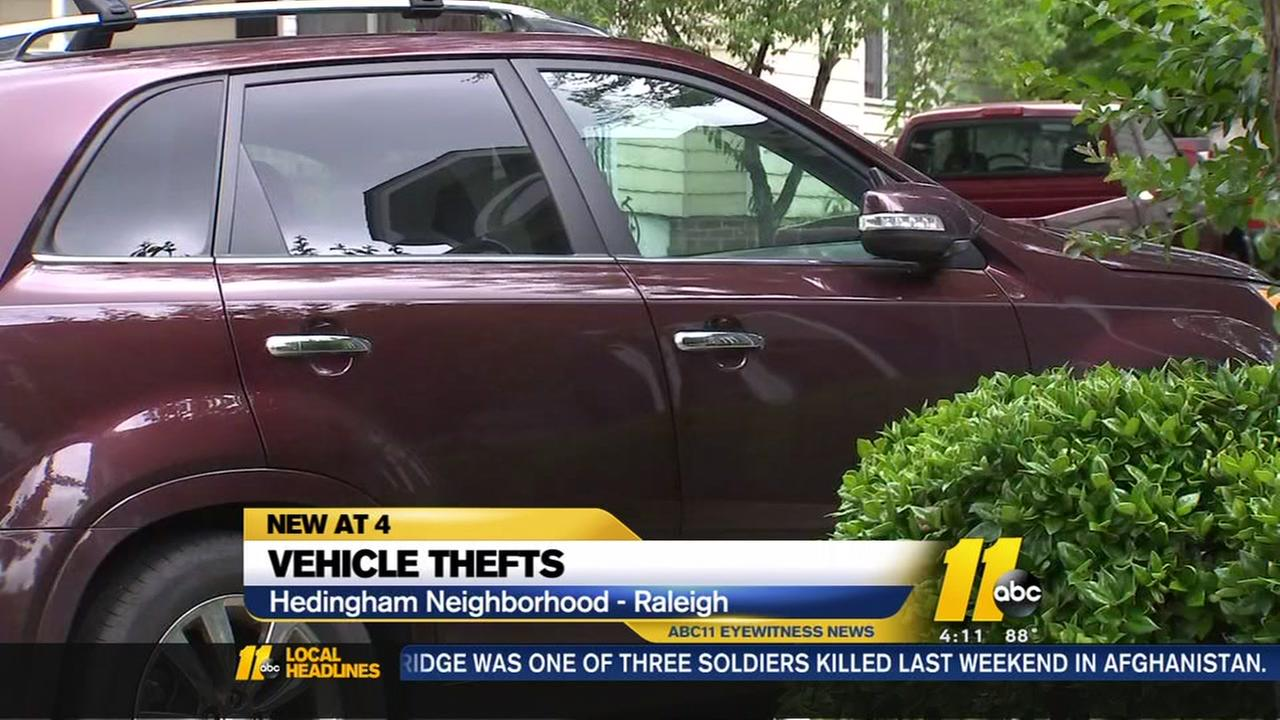 Raleigh neighborhood fed up with car break-ins