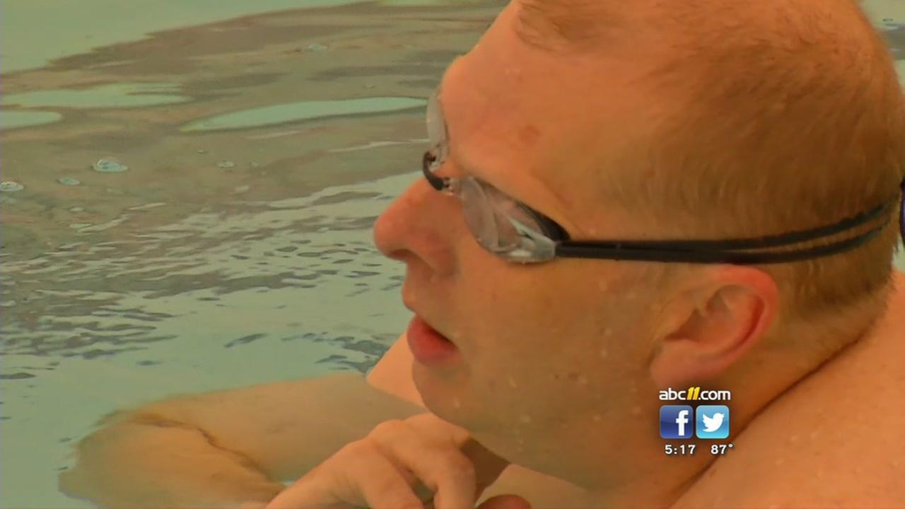 Heart transplant swimmer