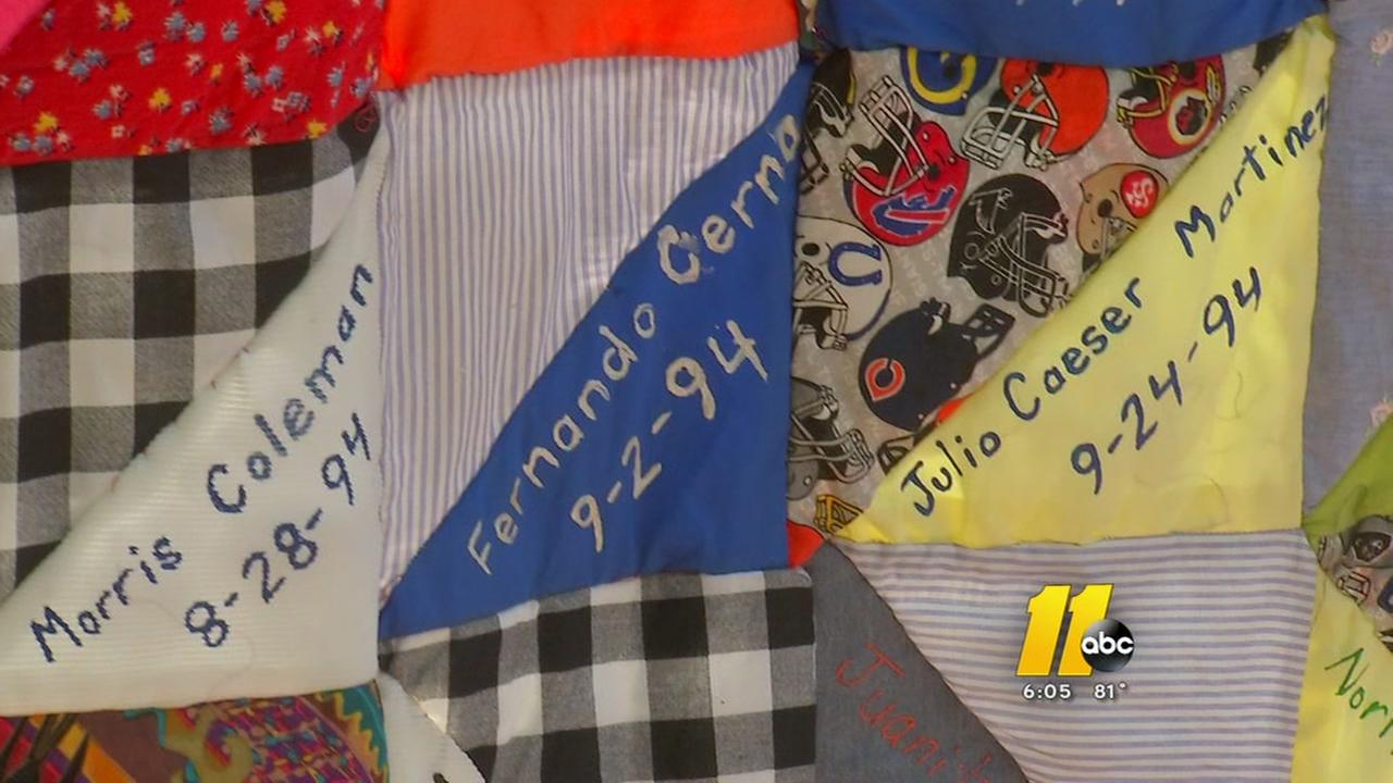 Homemade quilt holds names of Durham murder victims