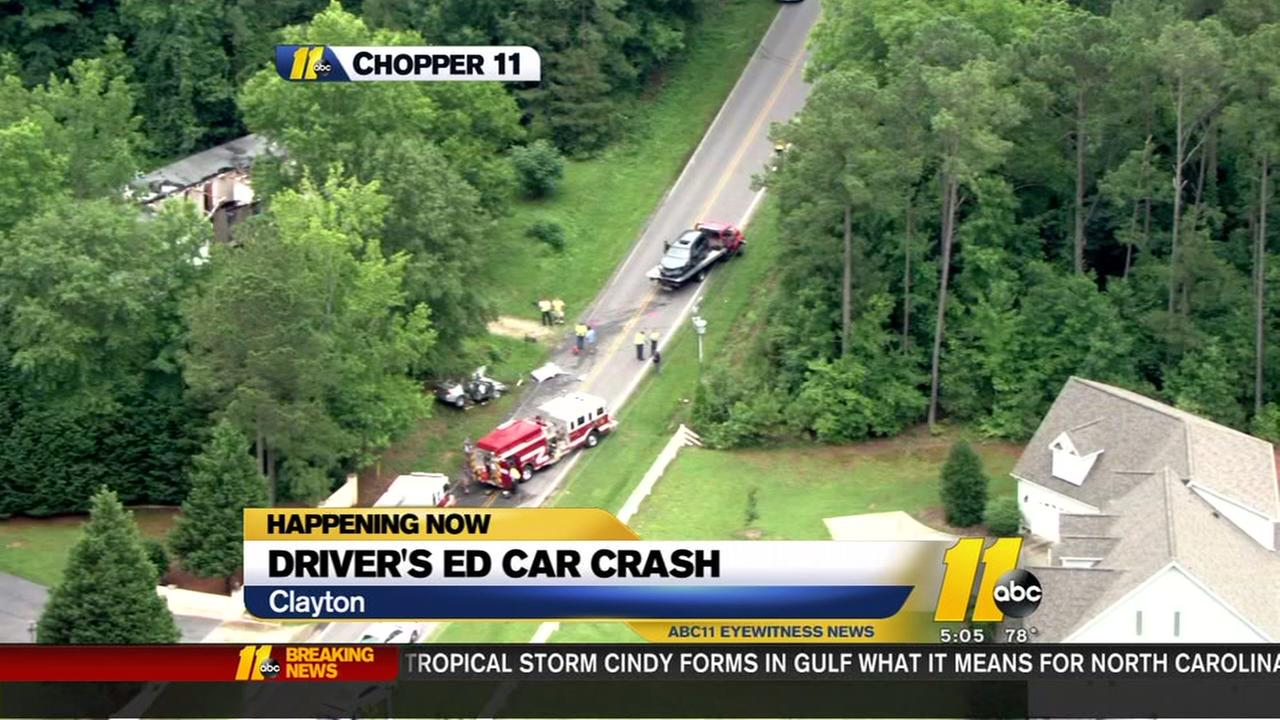Driver education car involved in crash