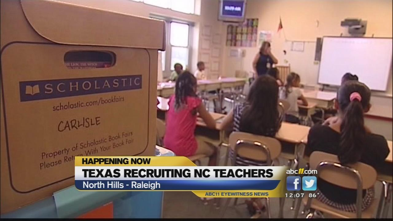 TX attempting to recruit NC teachers