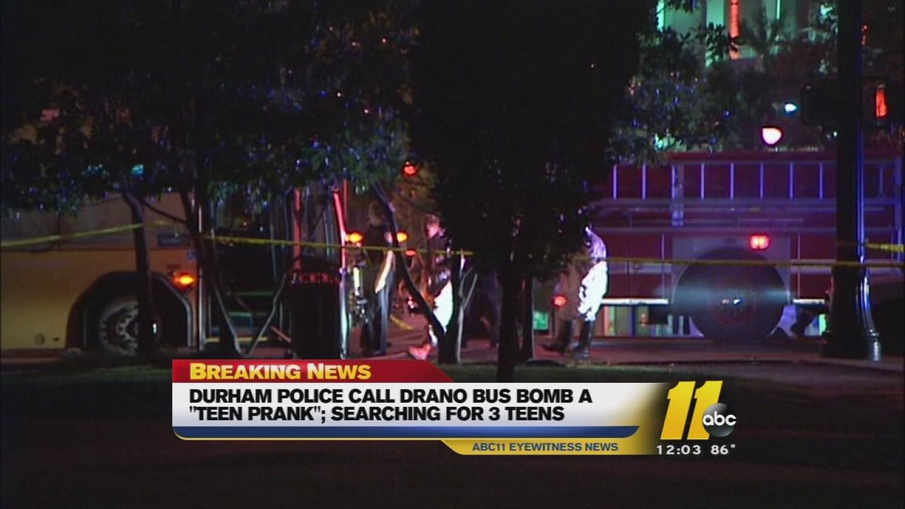 Teens sought in Durham bus explosion