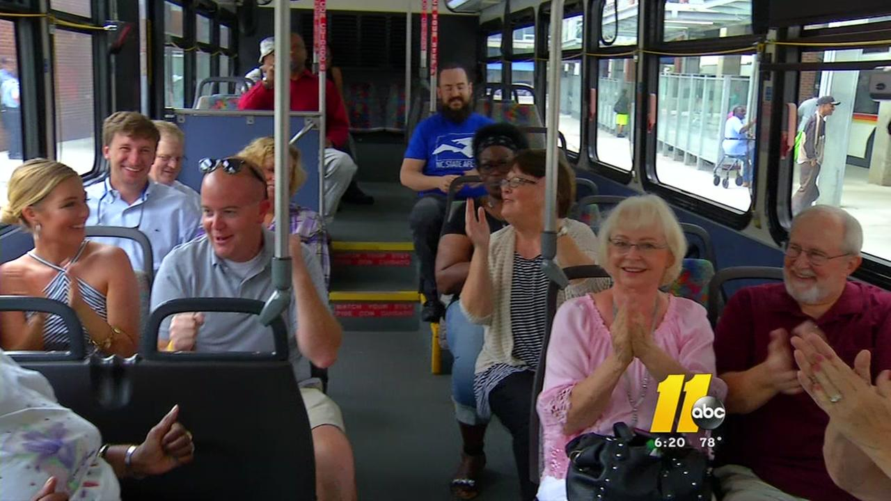Retiring Raleigh bus driver gets big sendoff
