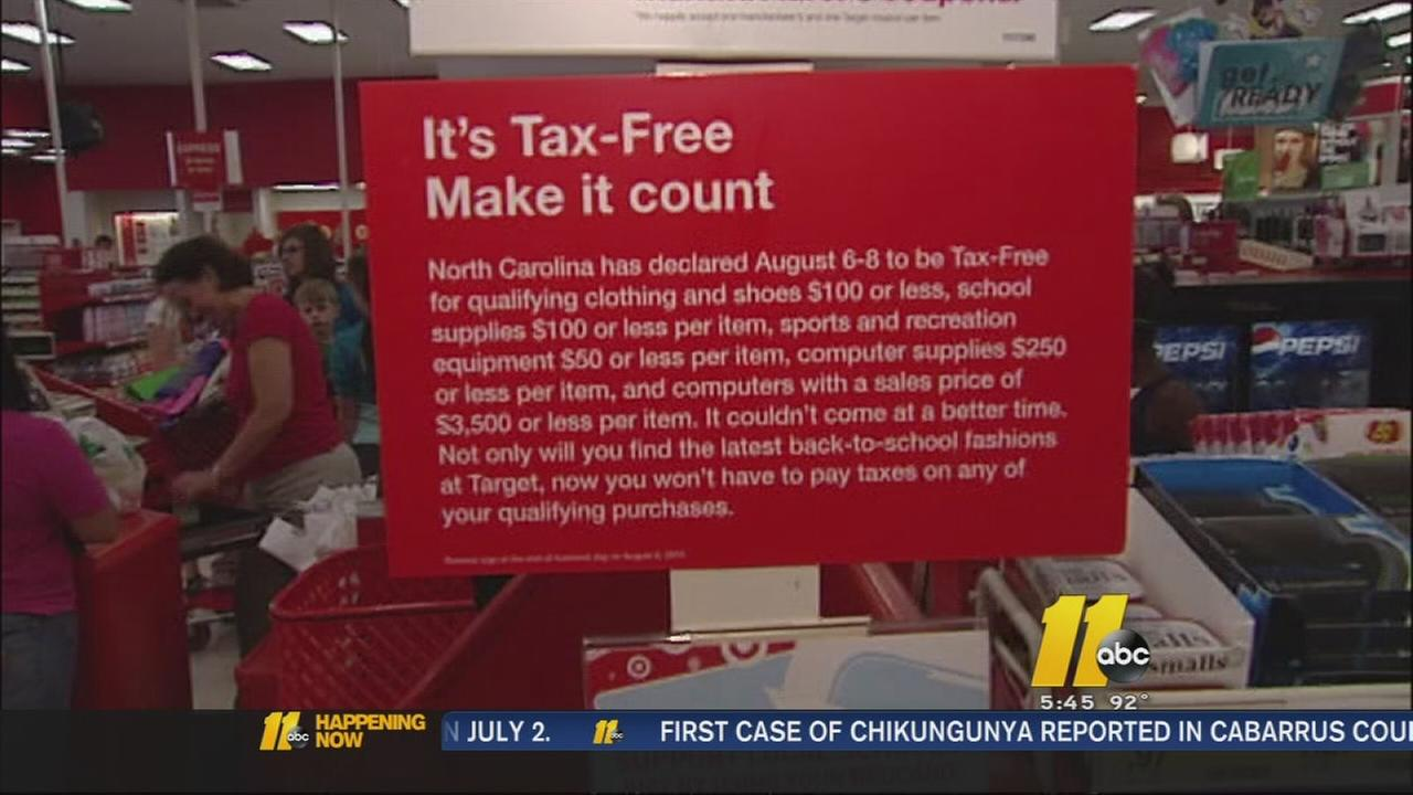 No tax free weekend for NC this year