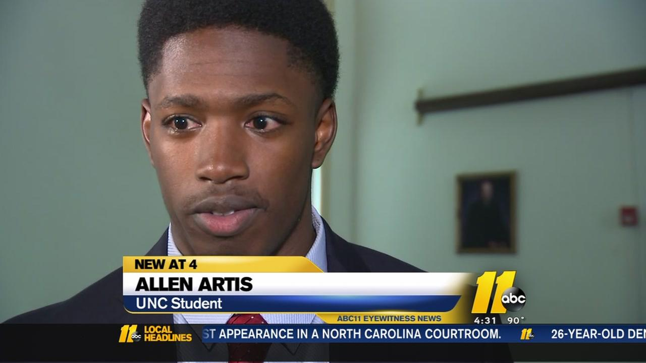 Former UNC football player appears in court