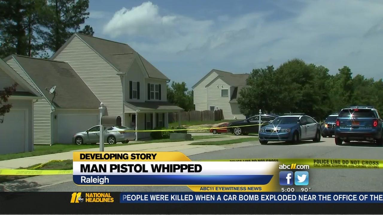 Man pistol-whipped in Raleigh home invasion
