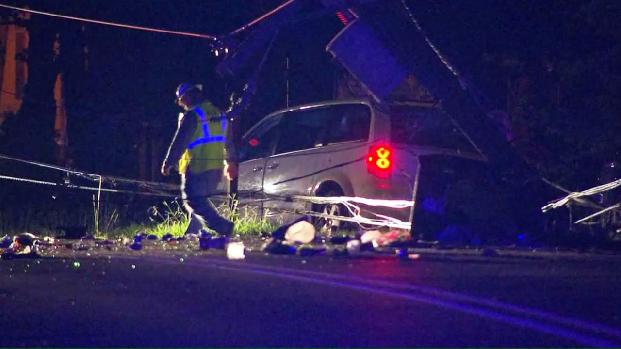 Driver Crashes In Apex Leaves Over 100 Without Power