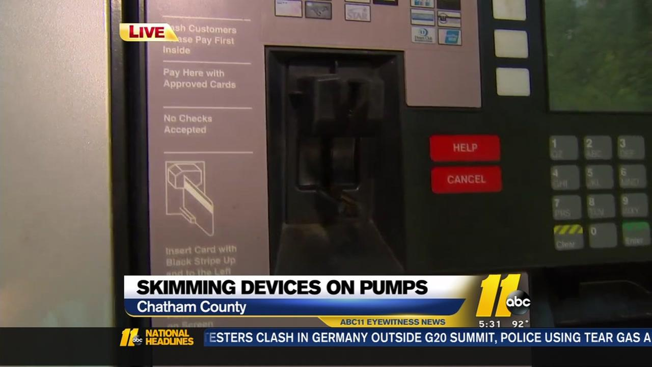 Skimming devices found on pumps near Jordan Lake