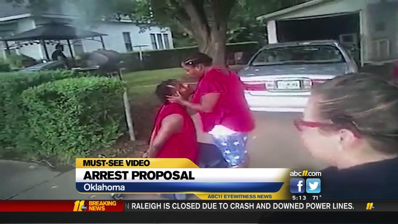 Police body cam capture arrest proposal