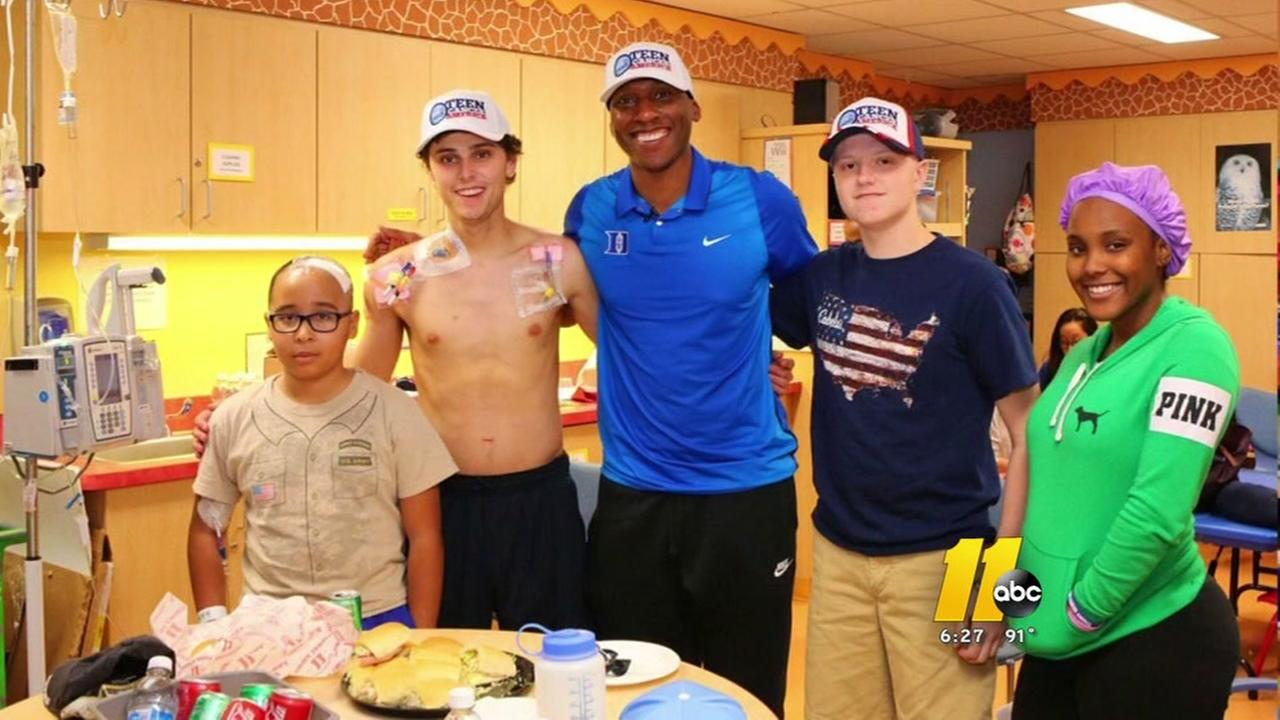 Nolan Smith is fundraising for a new teen cancer center
