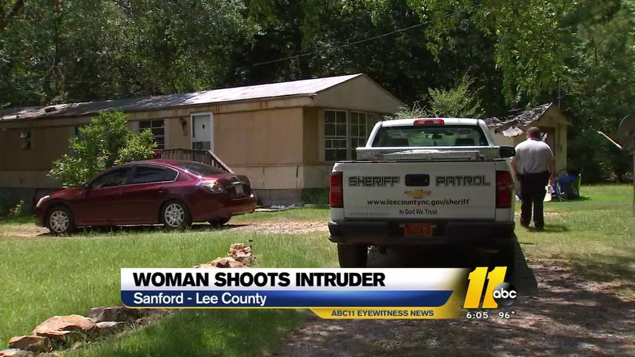 Woman shoots intruder in Sanford