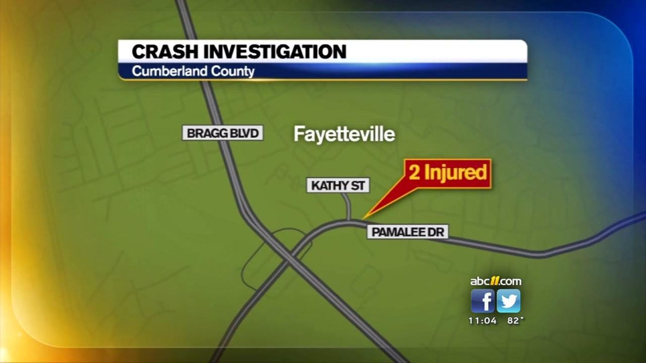 Crash shuts down Fayetteville street
