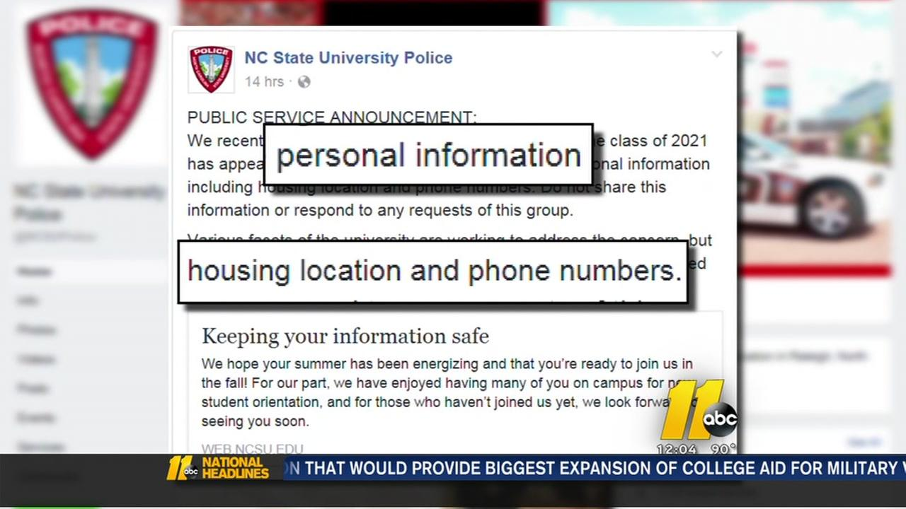 Scam targeted NC State students