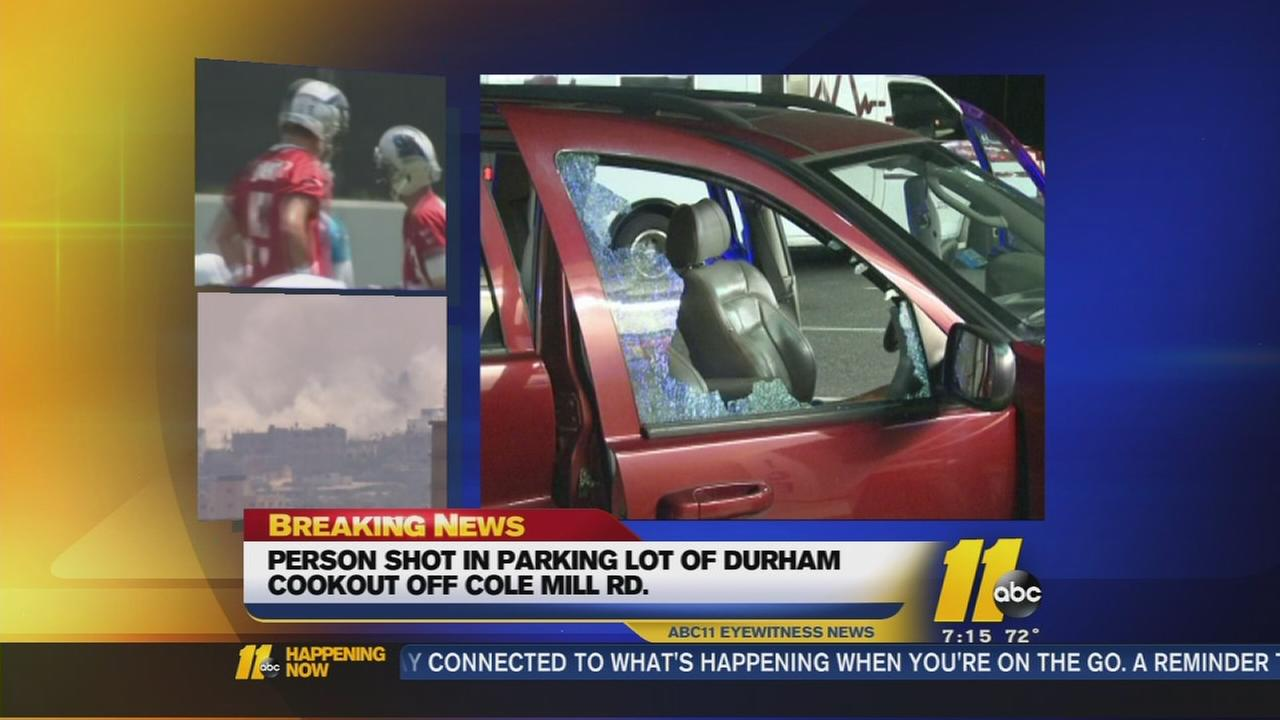1 man injured in Durham parking lot shooting