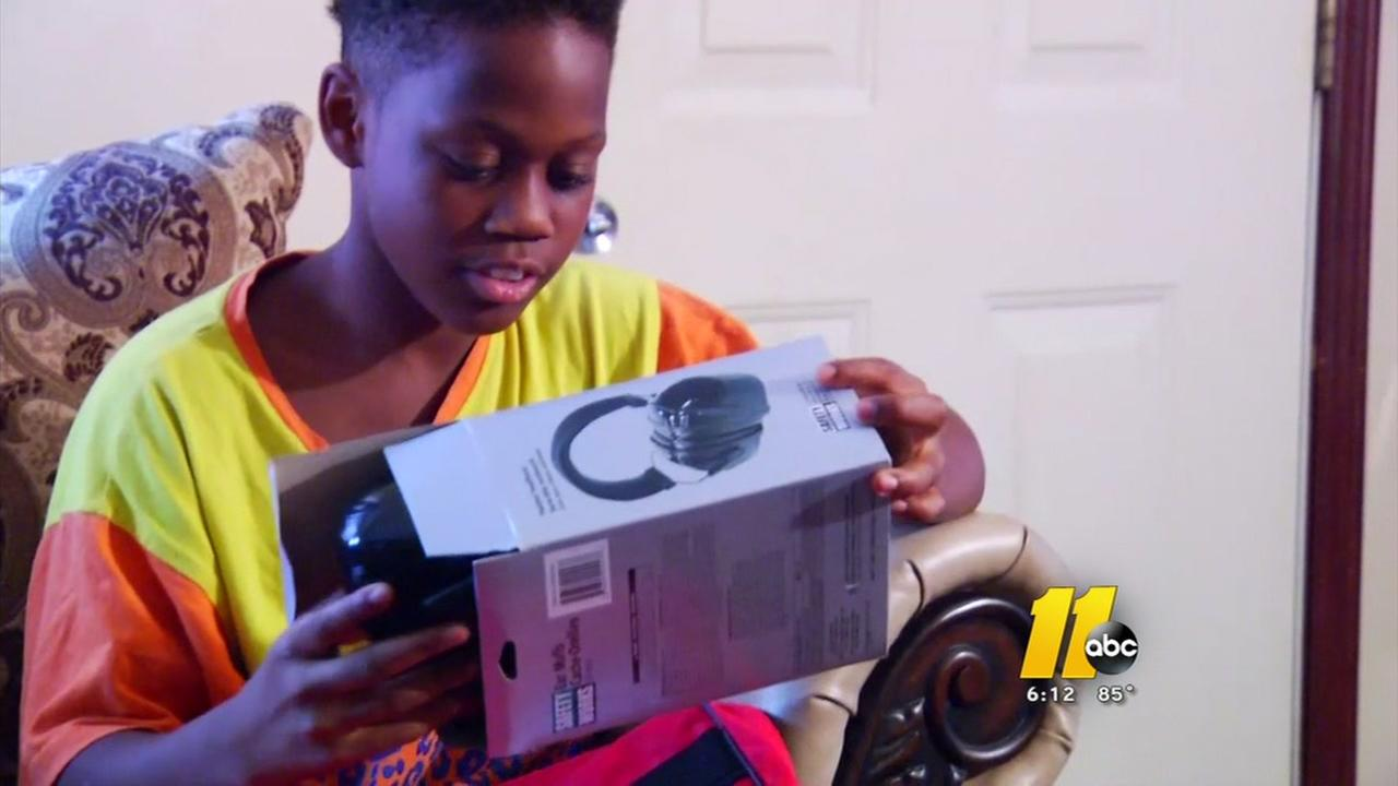 Boy surprised with lawn mower now gets new surprise
