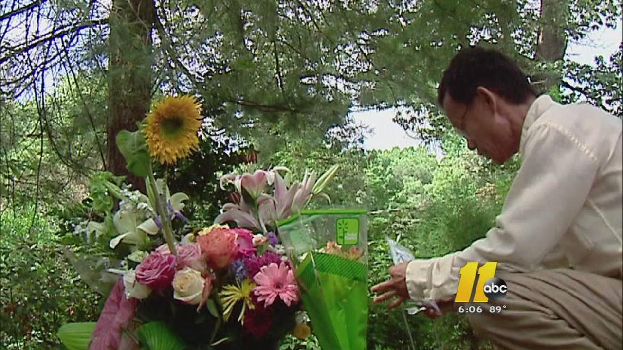 Makeshift memorial honors UNC researcher